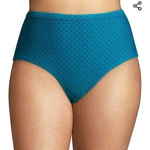 New Teal High Waist Bikini Bottom Size 2x